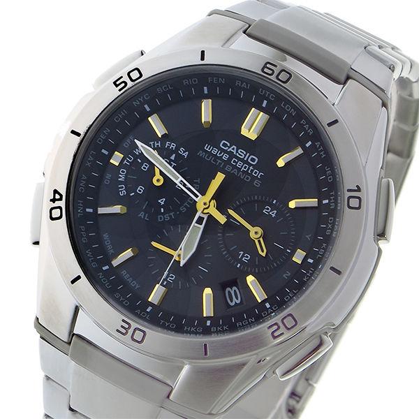 カシオ CASIO ウェーブセプター WAVE CEPTOR 電波 タフソーラー メンズ 腕時計 WVQ-M410DE-1A3JF ブラック