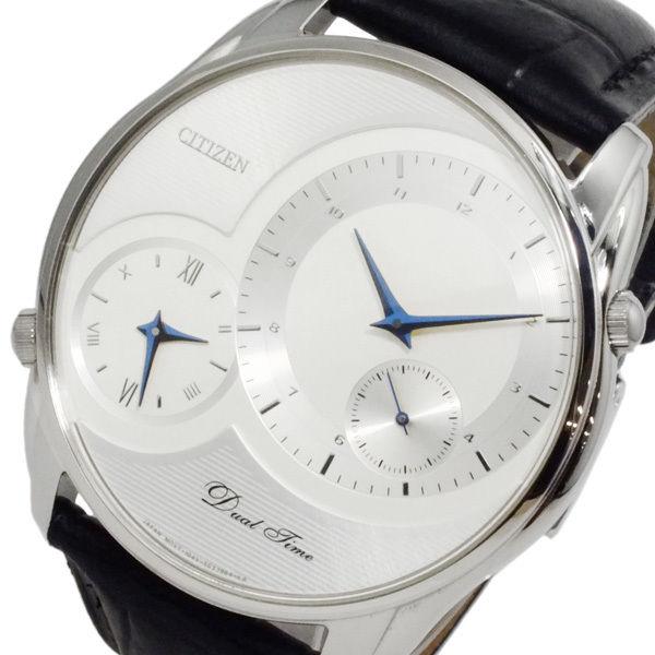 シチズン CITIZEN クオーツ メンズ デュアルタイム 腕時計 AO3009-04A ホワイト