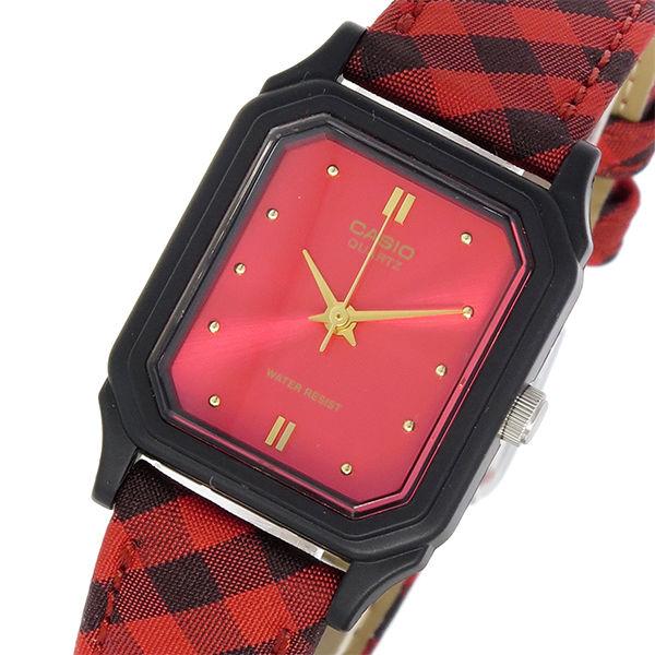 カシオ CASIO スタンダード クオーツ レディース 腕時計 LQ-142LB-4A レッド
