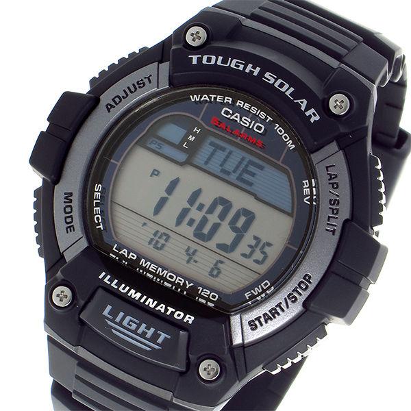 カシオ CASIO タフソーラー デジタル メンズ 腕時計 W-S220-1A ブラック
