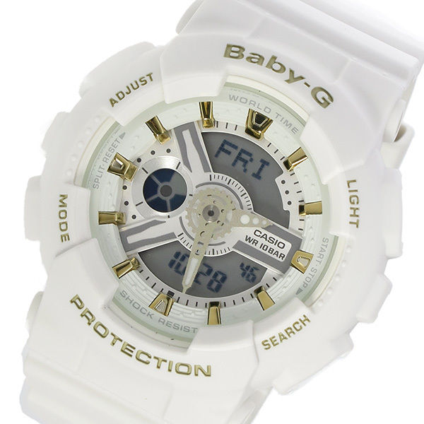 カシオ CASIO ベビーG BABY-G クオーツ レディース 腕時計 BA-110GA-7A1 ホワイト
