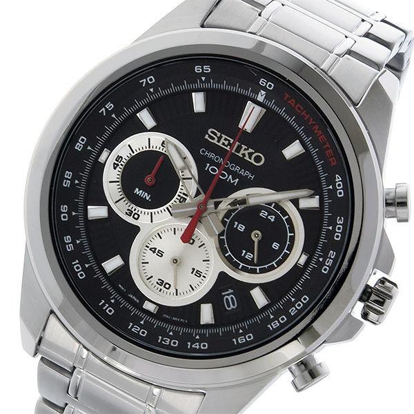 セイコー SEIKO クロノ クオーツ メンズ 腕時計 SSB241P1 ブラック