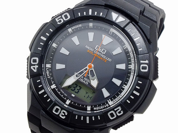 シチズン キューアンドキュー Q&Q クオーツ メンズ アナデジ 腕時計 MD06-302