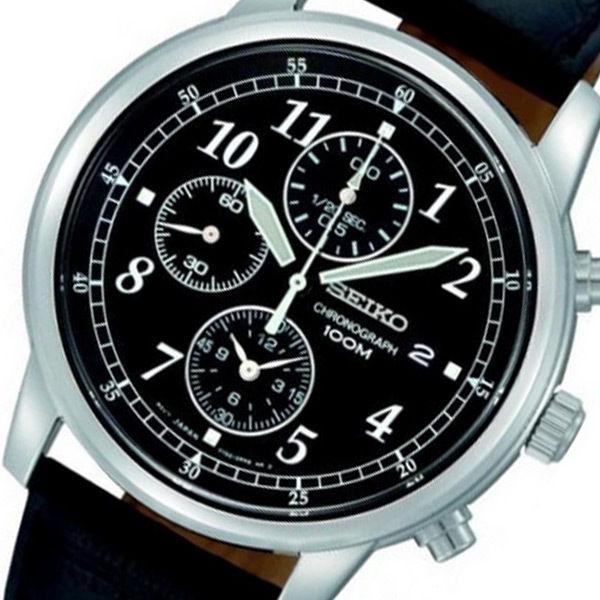 セイコー SEIKO クロノ クオーツ メンズ 腕時計 SNDC33P1 ブラック