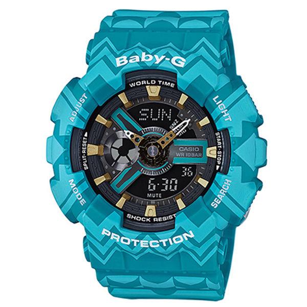 カシオ CASIO ベビーG BABY-G トライバル クオーツ レディース 腕時計 BA-110TP-2A ブルートライバル