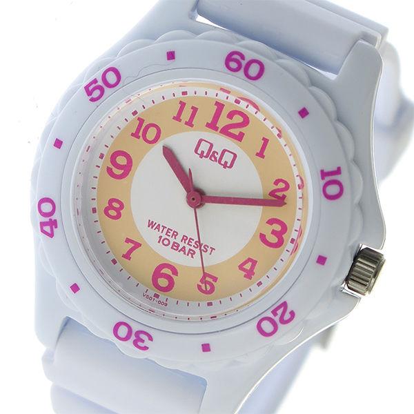 シチズン CITIZEN キューアンドキュー Q&Q 10気圧防水 ユニセックス 腕時計 VS01-009 オレンジ×ピンク ホワイト