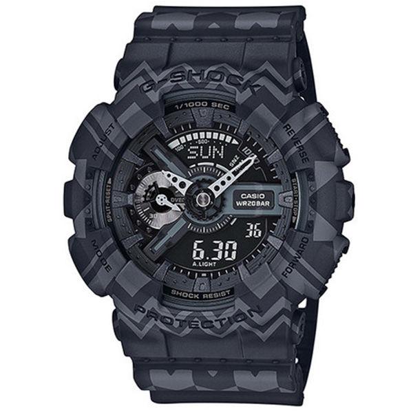 カシオ CASIO Gショック G-SHOCK アナデジ トライバル メンズ 腕時計 GA-110TP-1A ブラックトライバル