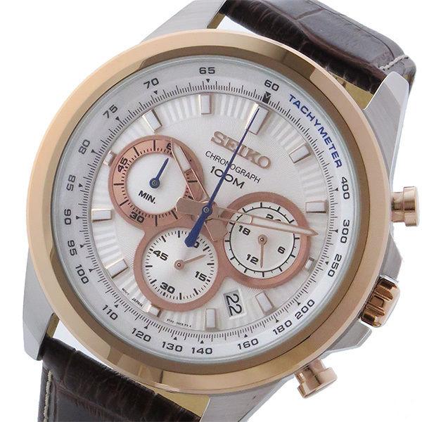 セイコー SEIKO クロノ クオーツ メンズ 腕時計 SSB250P1 ホワイト