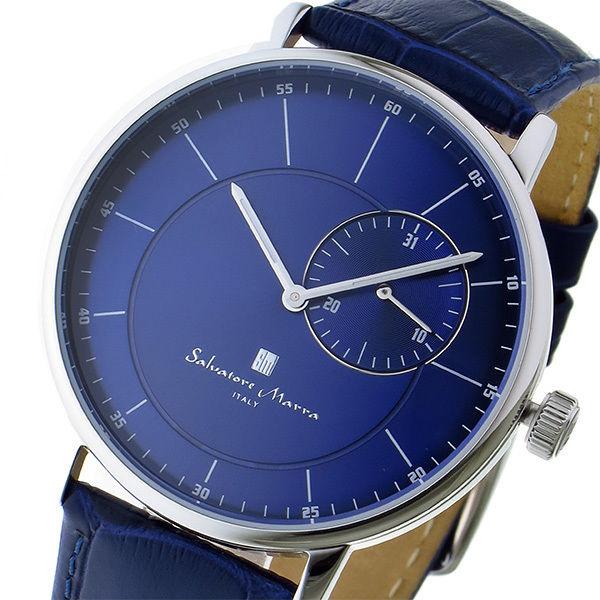 サルバトーレ マーラ SALVATORE MARRA クオーツ メンズ 腕時計 SM17105-SSBL ブルー