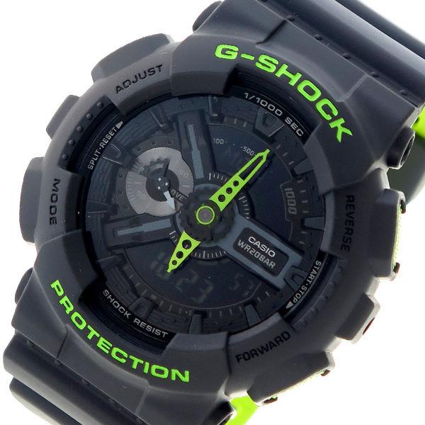 カシオ CASIO Gショック G-SHOCK クオーツ メンズ 腕時計 GA-110LN-8A ブラック