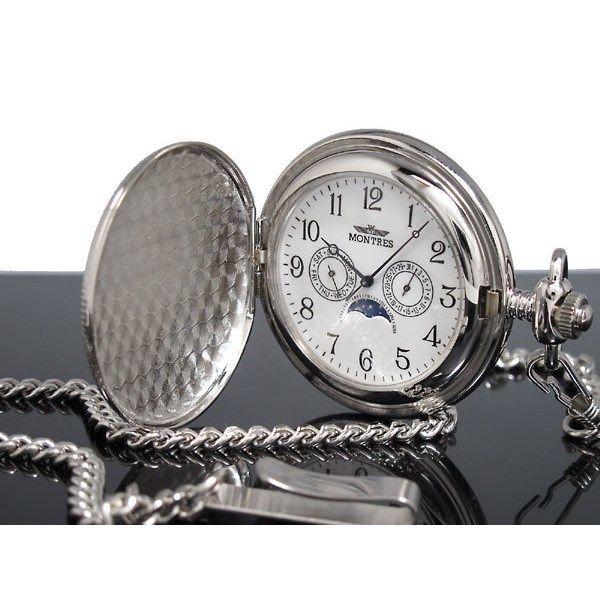 モントレス MONTRES 懐中時計 柄有り 923S-SV-A