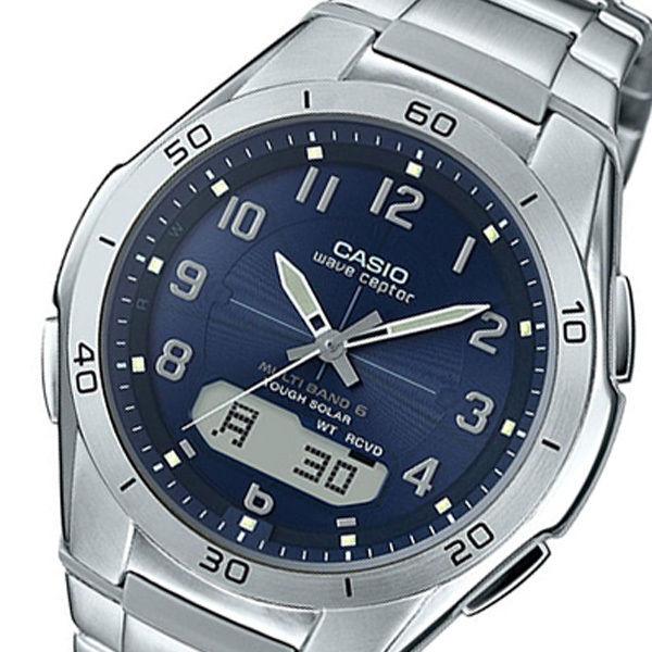 カシオ ウェーブセプター アナデジ クオーツ メンズ 腕時計 WVA-M640D-2A2JF シルバー 国内正規