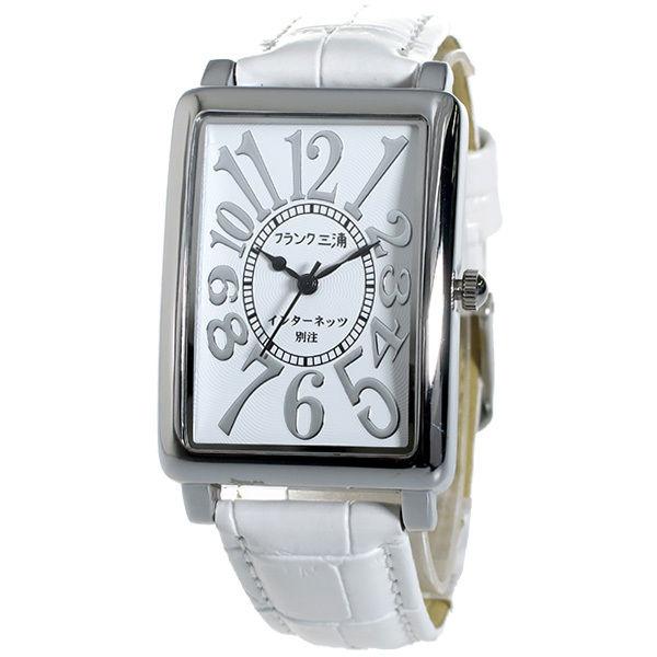 フランク三浦 インターネッツ別注 メンズ 腕時計 FM01IT-SVWH ホワイト/ホワイト 【ネット限定】