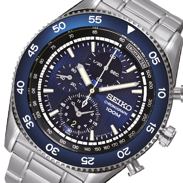 セイコー SEIKO クオーツ 高速クロノ メンズ 腕時計 SNDG55P1 ネイビー