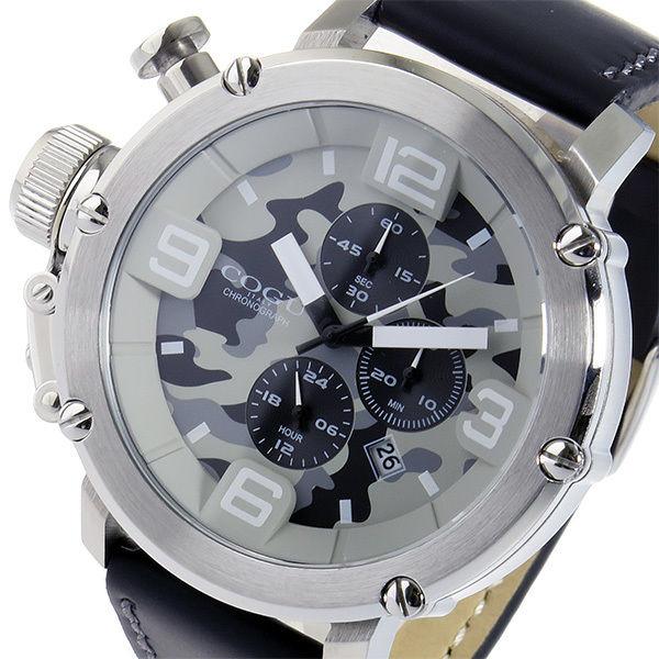 コグ COGU クオーツ クロノ メンズ 腕時計 C61-CGY グレーカモフラ