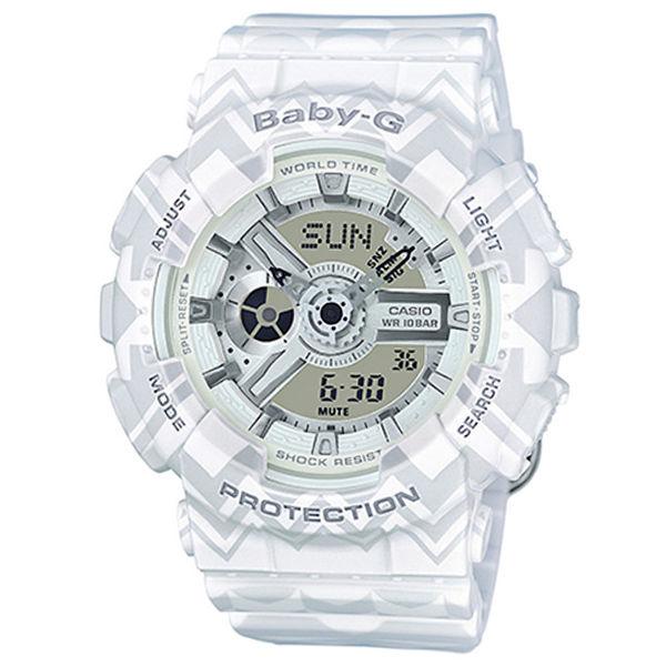 カシオ CASIO ベビーG BABY-G トライバル クオーツ レディース 腕時計 BA-110TP-7A ホワイトトライバル
