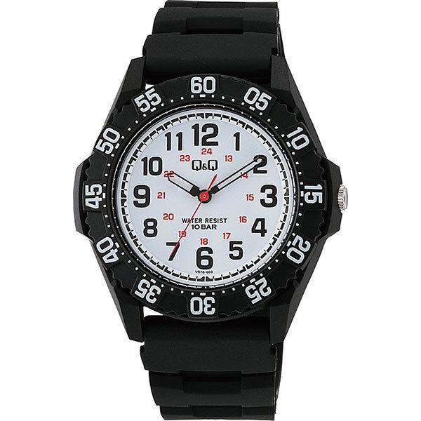 シチズン CITIZEN キューアンドキュー Q&Q 10気圧防水 メンズ 腕時計 VR76-003 ブラック
