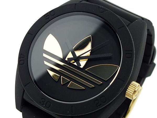 アディダス ADIDAS サンティアゴ メンズ 腕時計 ADH2712 ブラック×ゴールド