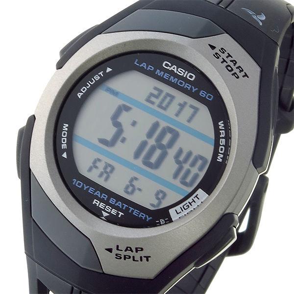 カシオ CASIO フィズ PHYS ランナー クオーツ ユニセックス 腕時計 STR-300C-1V ブラック