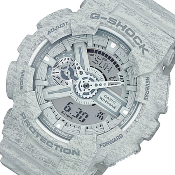 カシオ CASIO Gショック アナデジ クオーツ メンズ 腕時計 GA-110HT-8A グレー