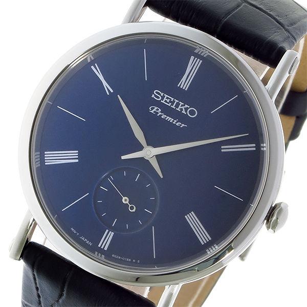 セイコー SEIKO プルミエ Premier クオーツ ユニセックス 腕時計 SRK037P1 ネイビー