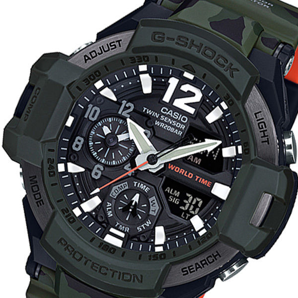 カシオ Gショック グラビティマスター アナデジ クオーツ メンズ 腕時計 GA-1100SC-3AJF ブラック 国内正規