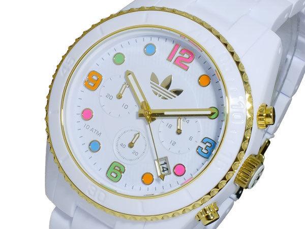 アディダス ADIDAS ブリスベン ストラップ クオーツ メンズ 腕時計 クロノ ADH2945 ホワイト