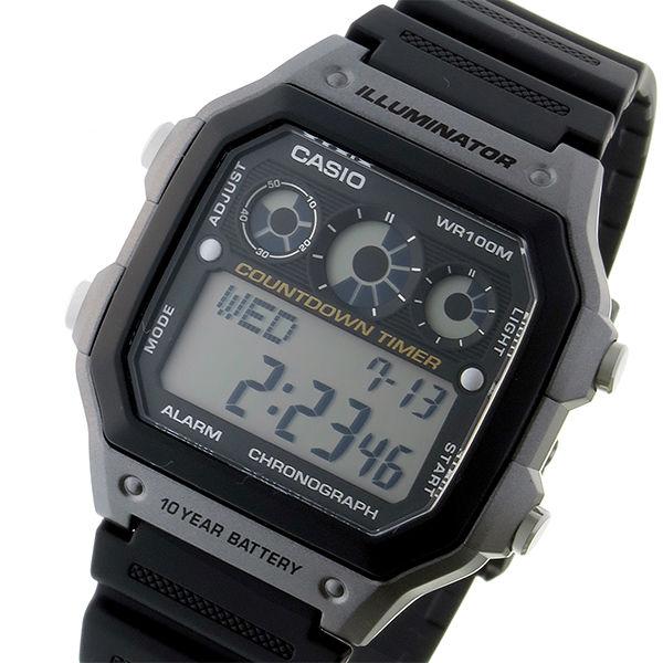 カシオ CASIO スタンダード クオーツ ユニセックス 腕時計 AE-1300WH-8A ブラック