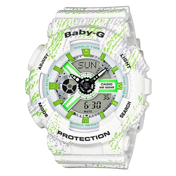 カシオ CASIO ベビーG Baby-G ミストテクスチャー アナデジ クオーツ レディース クロノ 腕時計 BA-110TX-7A ホワイト
