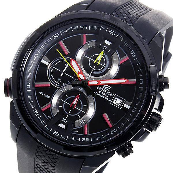 カシオ エディフィス クロノ クオーツ メンズ 腕時計 EFR-536PB-1A3V ブラック