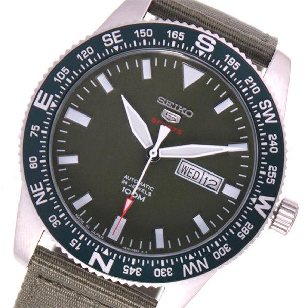セイコー SEIKO 5スポーツ 自動巻き メンズ 腕時計 SRP663J1 カーキ