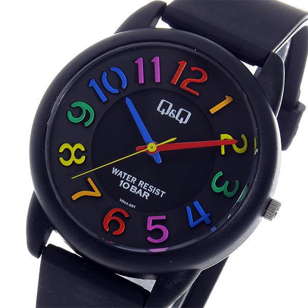シチズン キューアンドキュー クオーツ ユニセックス 腕時計 VR64-001 ブラック