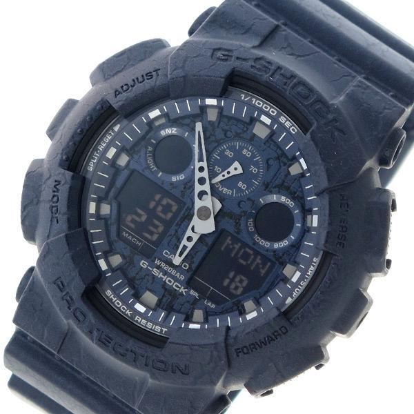 カシオ CASIO Gショック G-SHOCK クオーツ メンズ 腕時計 GA-100CG-2A ネイビー