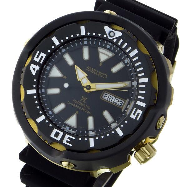 セイコー SEIKO プロスペックス PROSPEX ダイバー 自動巻き メンズ 腕時計 SRPA82K1 ブラック/ゴールド