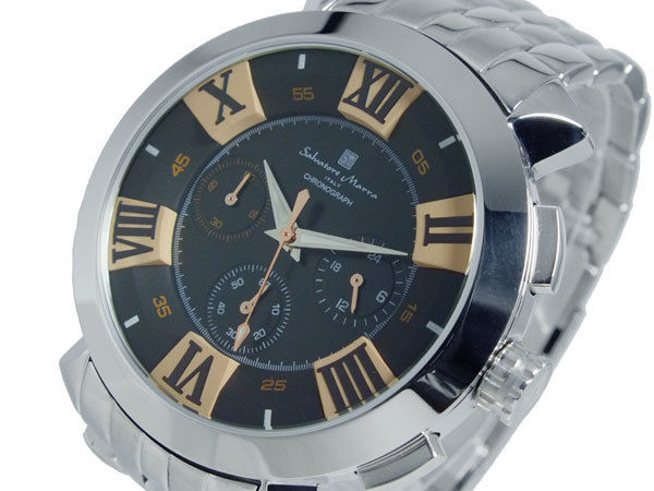 サルバトーレマーラ クオーツ メンズ クロノグラフ 腕時計 SM14107-SSBKPG