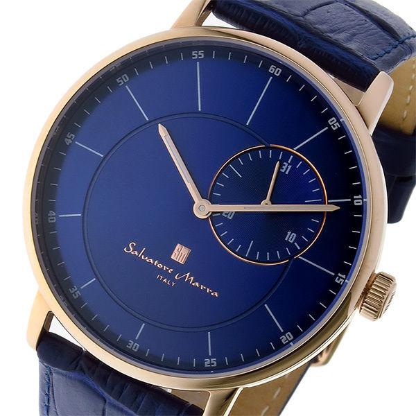 サルバトーレ マーラ SALVATORE MARRA クオーツ メンズ 腕時計 SM17105-PGBL ブルー