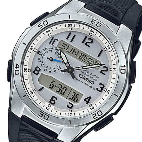 カシオ ウェーブセプター メンズ 電波 腕時計 WVA-M650-7AJF シルバー 国内正規