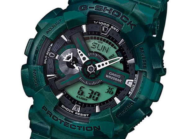 カシオ CASIO Gショック G-SHOCK メンズ 腕時計 GA-110CM-3A グリーン迷彩