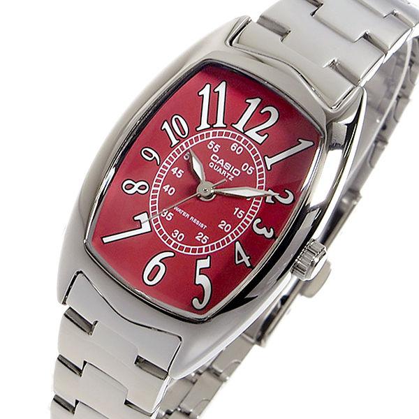 カシオ CASIO クオーツ レディース 腕時計 LTP-1208D-4B レッド