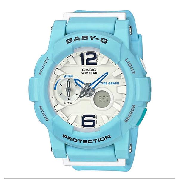 カシオ CASIO ベビーG Baby-G Beach Colors アナデジ クオーツ レディース クロノ 腕時計 BGA-180BE-2B ホワイト