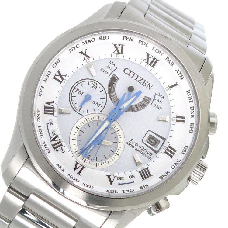 シチズン CITIZEN エコ・ドライブ クオーツ メンズ 腕時計 AT9080-57A ホワイト