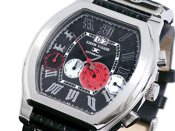 キースバリー KEITH VALLER 四連カレンダー 自動巻き メンズ 腕時計 K1712-BK