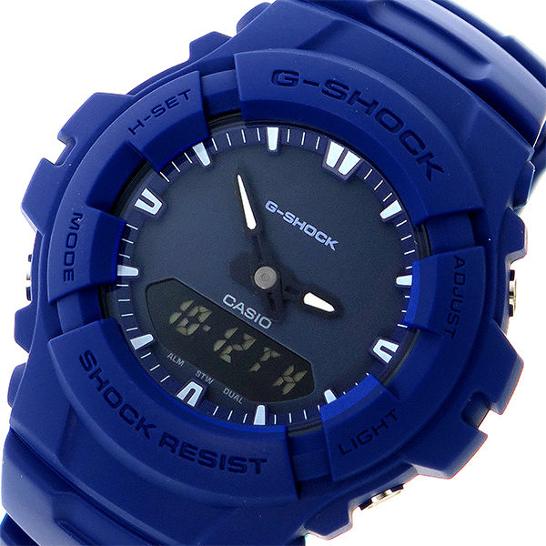 カシオ CASIO Gショック G-SHOCK クオーツ メンズ 腕時計 G-100CU-2A ネイビー