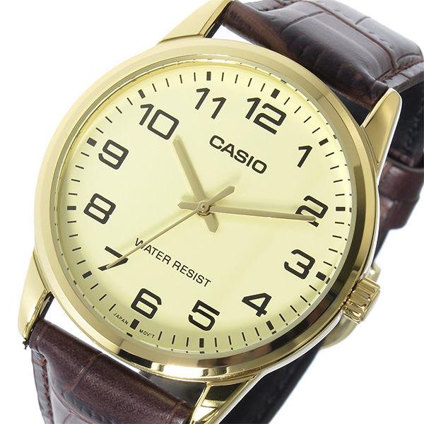カシオ CASIO ベーシック クオーツ メンズ 腕時計 MTP-V001GL-9B アイボリー