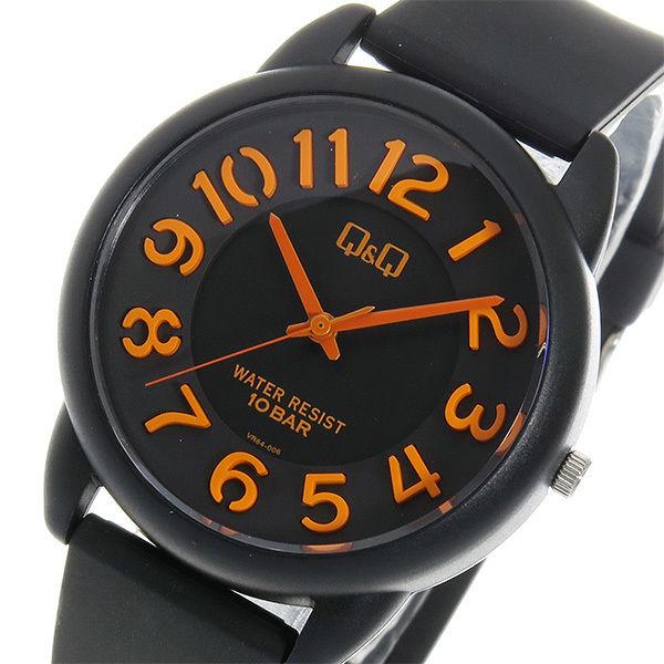 シチズン キューアンドキュー クオーツ ユニセックス 腕時計 VR64-006 ブラック