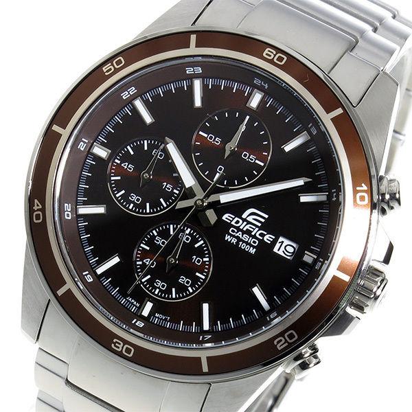カシオ エディフィス クロノ クオーツ メンズ 腕時計 EFR-526D-5AV ブラウン