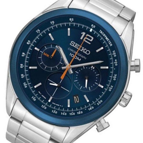 セイコー SEIKO クロノ クオーツ メンズ 腕時計 SSB091P1 ネイビー