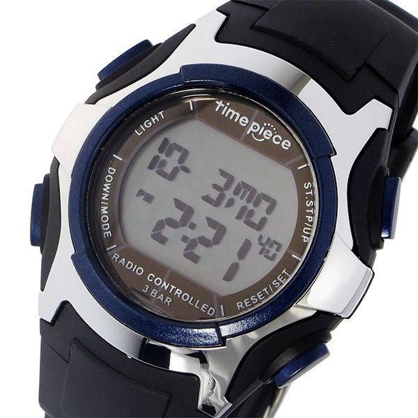 タイムピース TIME PIECE 電波ソーラー デジタル メンズ 腕時計 TPW-001BL ブラック/ブルー