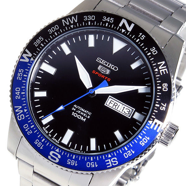 セイコー 5 スポーツ 自動巻き メンズ 腕時計 SRP659J1 ブラック