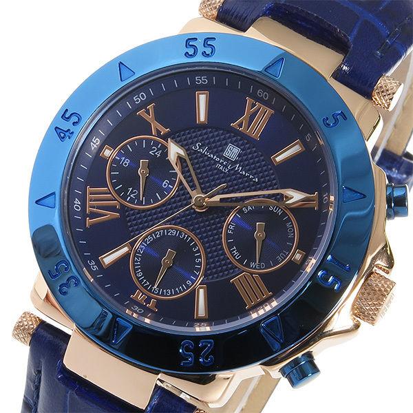 サルバトーレ マーラ クオーツ メンズ 腕時計 SM14118S-PGBL ブルー